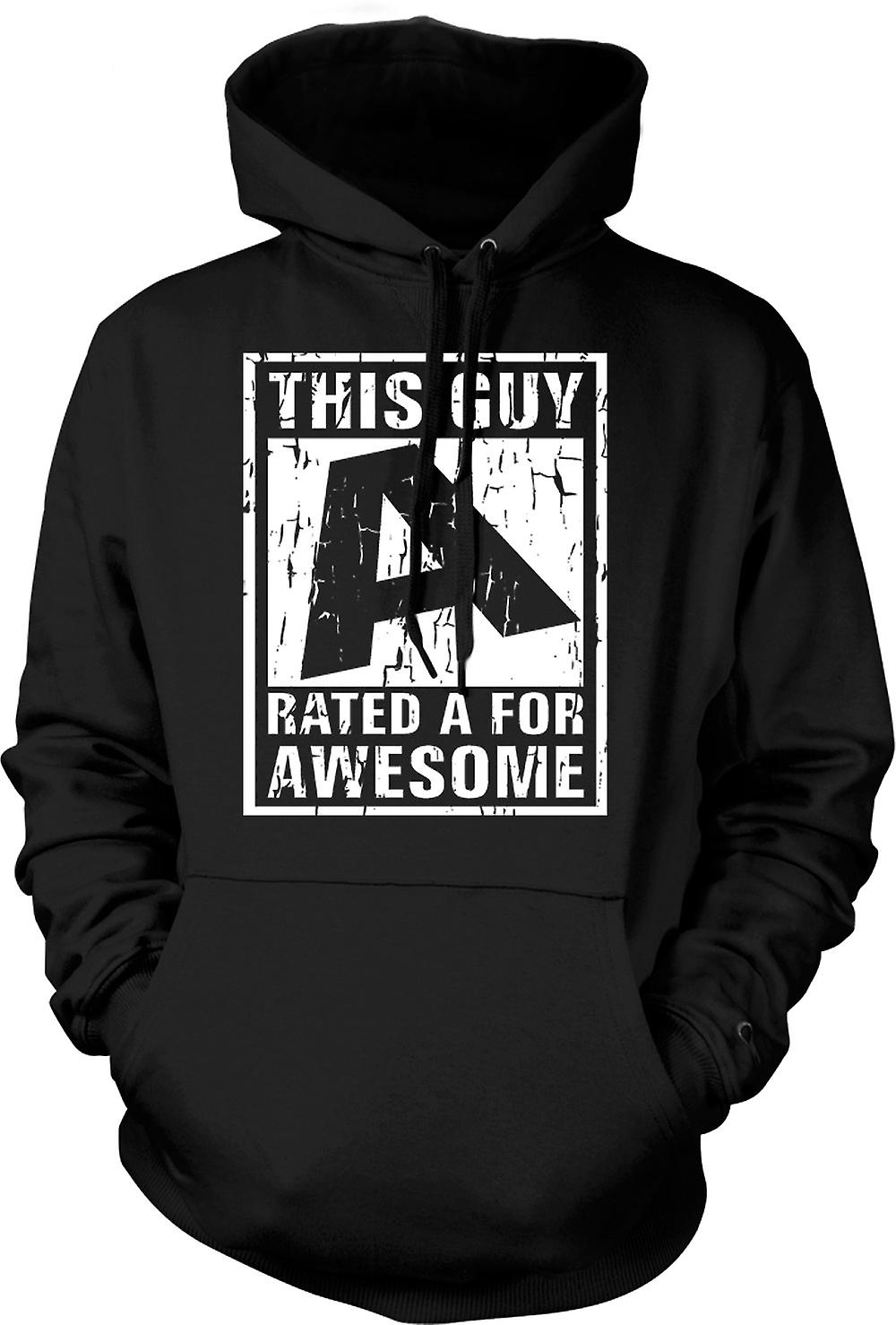 Mens Hoodie - This Guy Rated A For Awesome