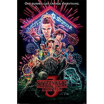 Stranger Things Poster Season 3 Summer of 85 One Summer Can Change Everything.