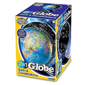 Brainstorm leksaker 2 i 1 Globe Earth & konstellationer