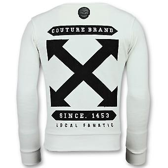 Off Cross-Luxe Sweater men-6356W-White