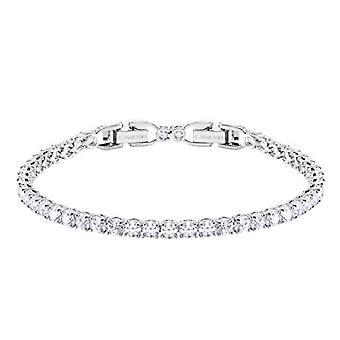 Swarovski Bracelet Tennis Round Deluxe - White - Rhodio Plating