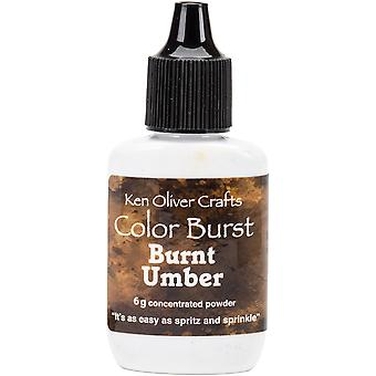 Ken Oliver Color Burst Powder 6gm-Burnt Umber KNCPW-6378