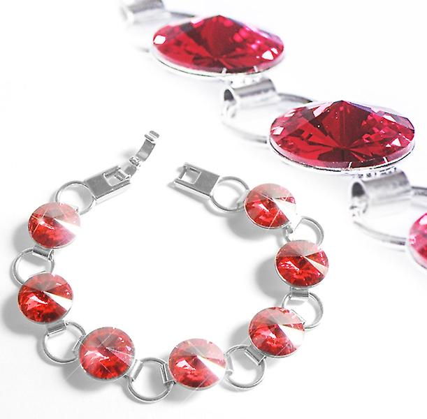 Bracelet with red Swarovski crystals BMB 1.5