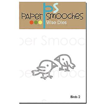 Paper Smooches Die-Birds 2 J2D328