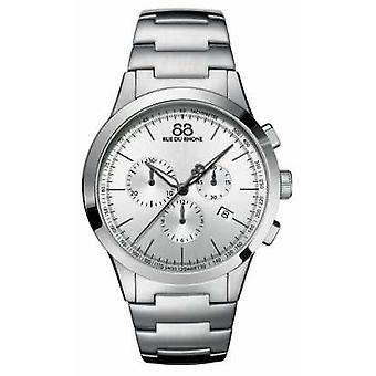 88 rue du Rhone Mens Chronograph Stainless Steel Silver Dial orologio 87WA154308