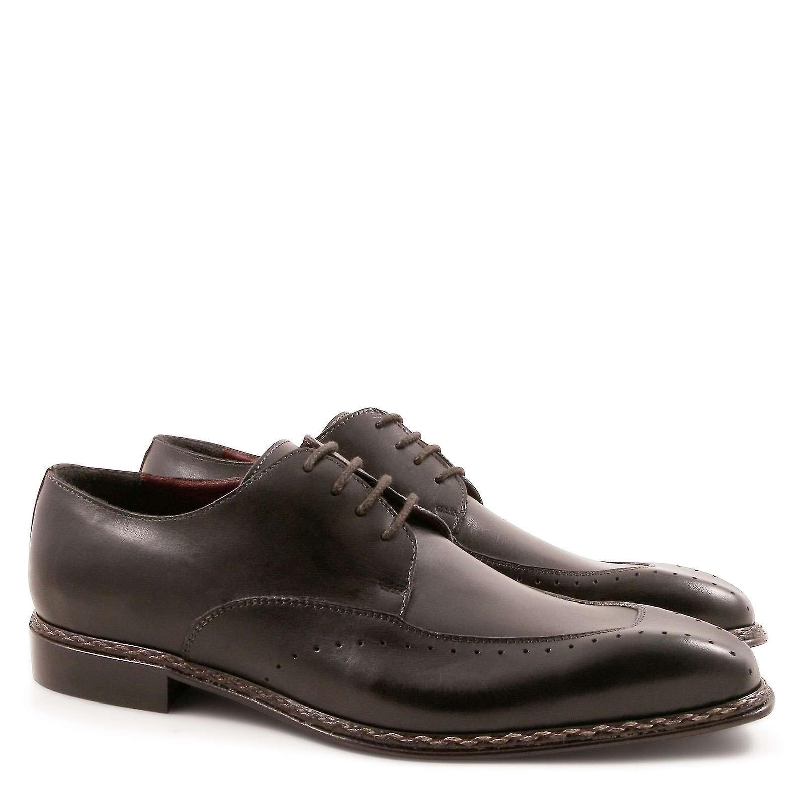 Italiano Abito scarpe in pelle nera fatta a mano | Reputazione a lungo termine  | Uomo/Donna Scarpa
