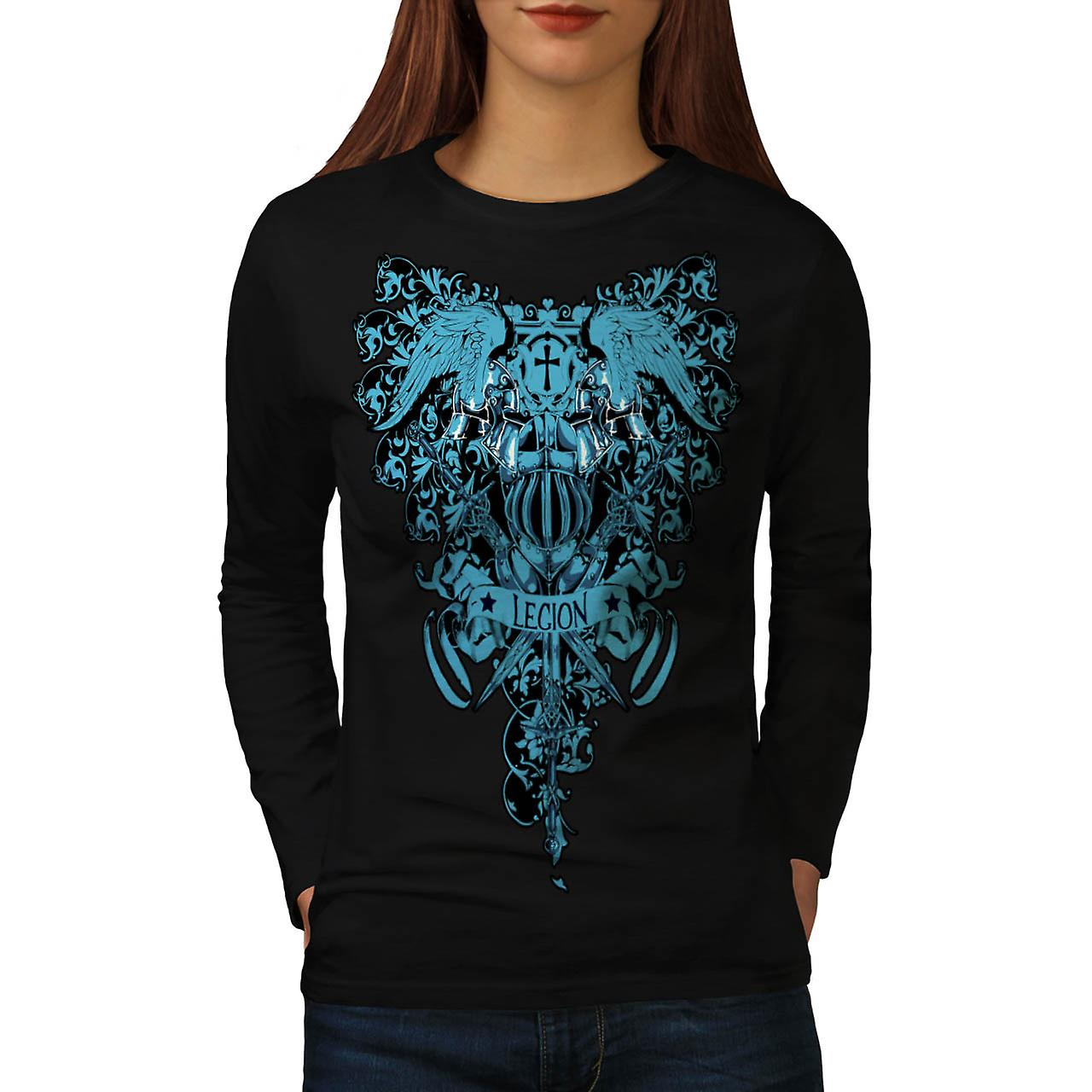 Death Legion Art Vintage Women Black Long Sleeve T-shirt | Wellcoda