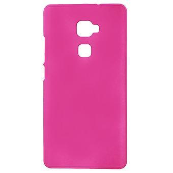 Dekking van rubber gel kunststofafdekking PC tot Ascend doden Huawey S (roze)