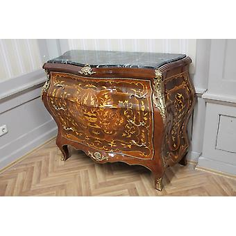 Commode baroque armoire Louis xv style antique MkKm0097Gn