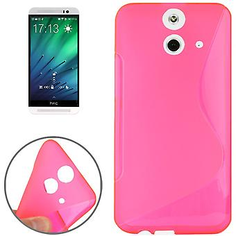 TPU protective case for HTC one E8 case pink