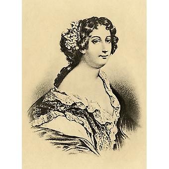 Catherine Marie De Lorraine Herzogin De Montpensier 1552-1596 Foto-Radierung aus einer alten Porträt im Louvre aus dem Buch Lady JacksonS Works Viii der letzte Valois Ii veröffentlicht London 1899 Po