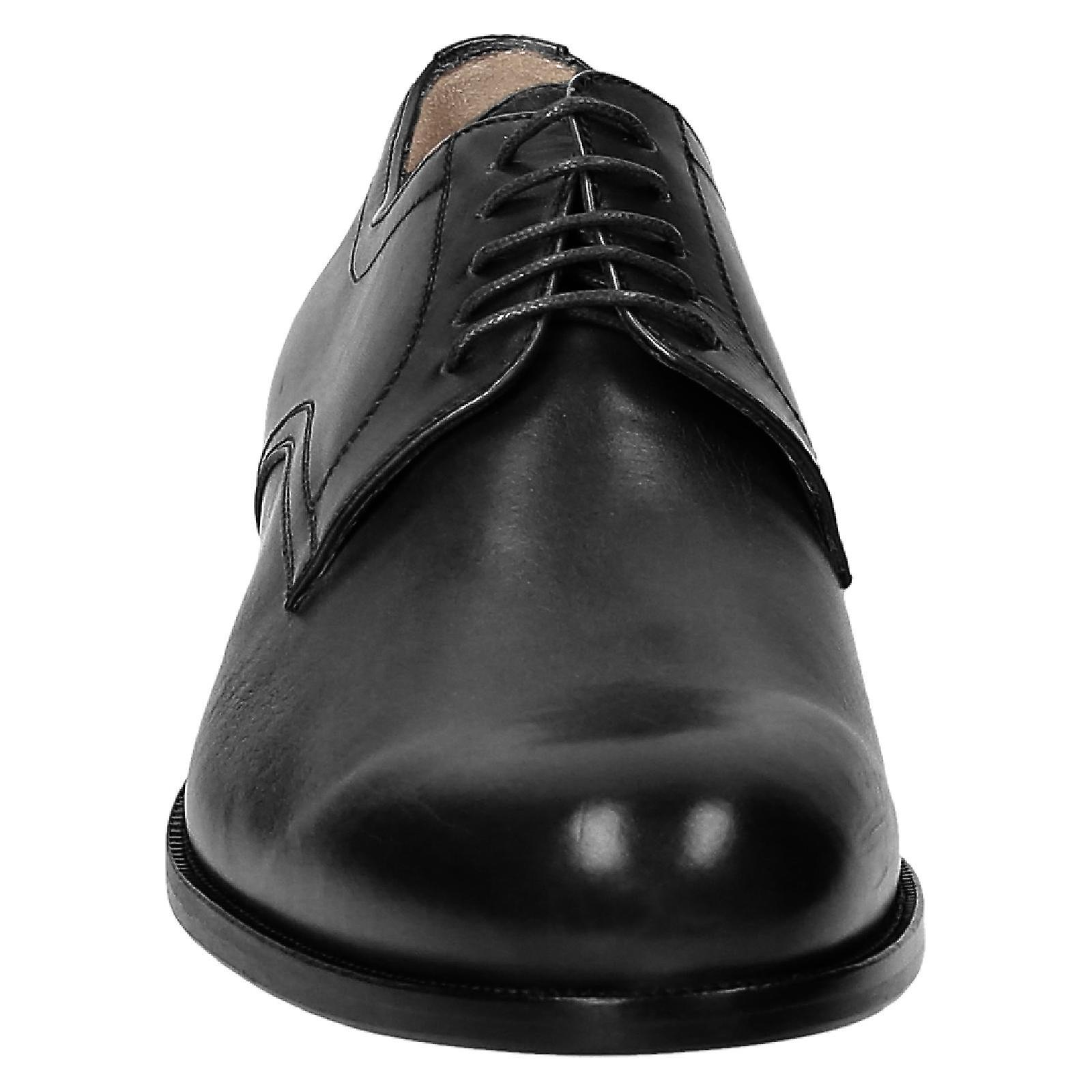 Handmade black derby shoes for men Made in Italy