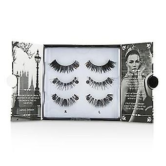 Eylure The London Edit False Lashes Multipack - # 121 # 117 # 154 (Adhesive Included) - 3pairs