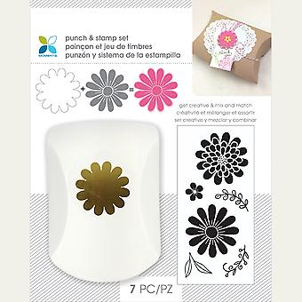 Momenta Punch & Stamp Set-Flowers 29555