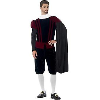 Smiffys Tudor Lord Deluxe Costume Top Trousers Cape And Neck Ruffle (Kostüme)