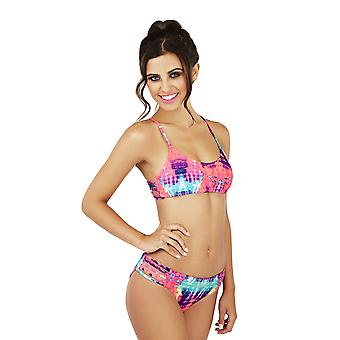 Boutique Ladies Neon Strappy Bikini Set