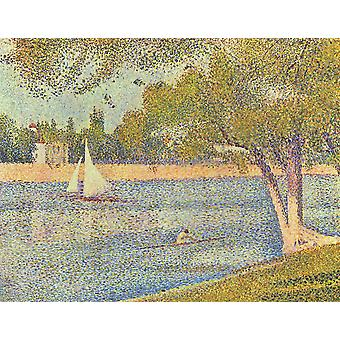 Georges Seurat - The Seine and la Grande Jatte Poster Print Giclee