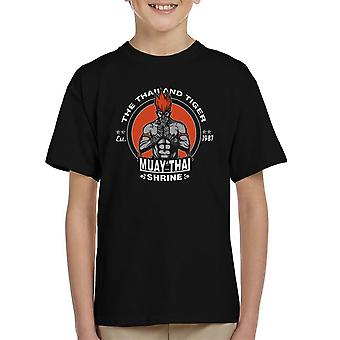 Thailand Tiger Adon Street Fighter børne T-Shirt