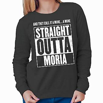 Straight Outta Moria Lord Of The Rings Women's Sweatshirt