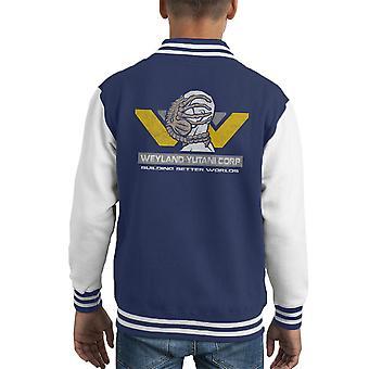 Weyland Yutani Corp Building Better Worlds Alien Kid's Varsity Jacket