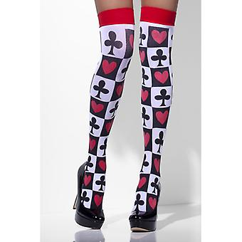 Stockings with playing card print