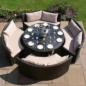 Maze Rattan Dallas Sofa Seat Garden Furniture Set