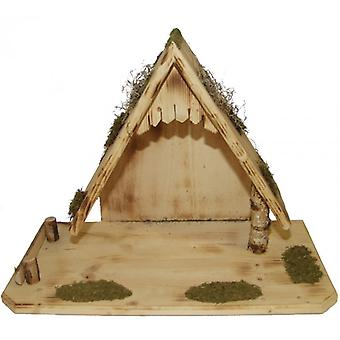 Crib Peter small wooden crib Nativity Christmas Nativity stable
