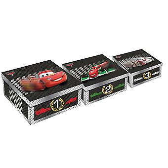Disney Cars Set of 3 Boxes cardboard Boxes