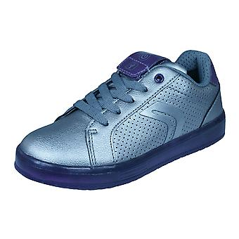 Geox J Kommodor G.A Kids Trainers / Shoes - Silver