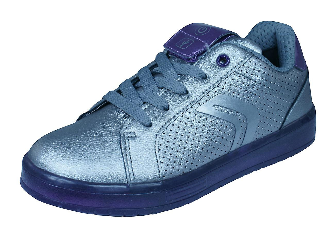 Geox J Kommodor GA Kids Trainers / Shoes - Silver