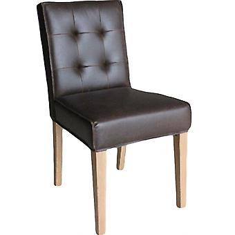 Classic Milano Oak Leather Chair-brown X2