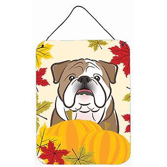 English Bulldog Thanksgiving Wall or Door Hanging Prints