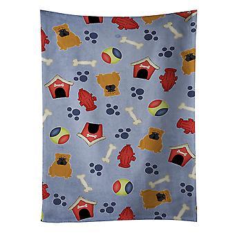 Cachorro casa coleção inglês Bulldog toalha de cozinha vermelho