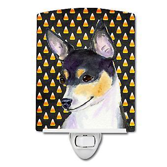 Chihuahua maïs bonbons Halloween Portrait céramique veilleuse