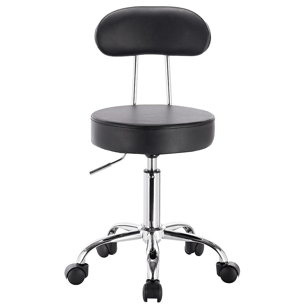 saturn adjustable height massage stool w wheels fruugo. Black Bedroom Furniture Sets. Home Design Ideas