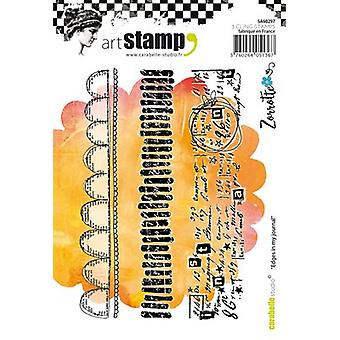 Carabelle Studio Cling Stamp A6 By Zorrotte-Edges In My Journal SA60297