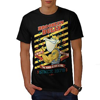 Brooklyn Bully New Men BlackT-shirt | Wellcoda