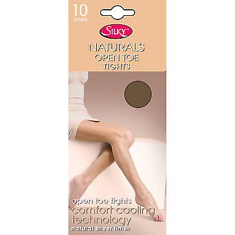Silky Womens/Ladies Naturals Open Toe Tights (1 Pair)