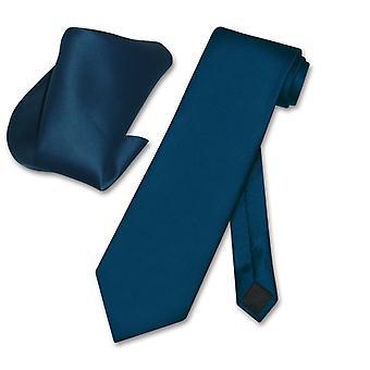 Vesuvio Napoli Solid NeckTie Handkerchief Men's Neck Tie Set