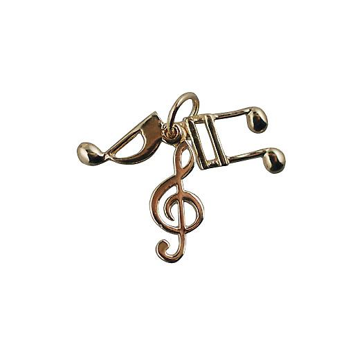 9ct Gold 12x5mm Musical notes Charm