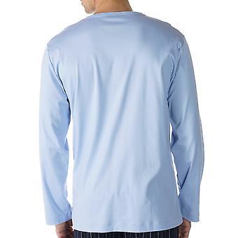 Mey 20440-188 Мужская Lounge голубой сплошной цвет пижамы Пижамная Топ