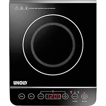 Induction hob with pot size recognition, Temperature pre-set, Timer fuction Unold