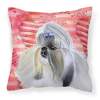 Carolines Treasures  BB9753PW1818 Shih Tzu Love Fabric Decorative Pillow