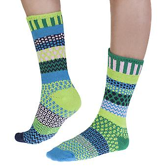 Water Lily recycled cotton multicolour odd-socks | Crafted by Solmate