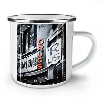Drugs R Us Store USA NEW WhiteTea Coffee Enamel Mug10 oz | Wellcoda