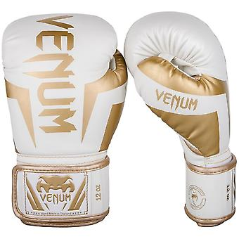 Venum Elite Boxing Gloves - White Gold