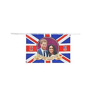 Royal Wedding Party Bunting Harry & Meghan Banner Flag Decoration Accessory PVC