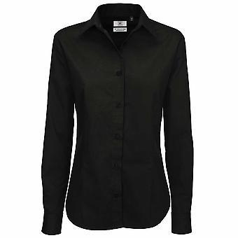 B&C Collection Sharp Long Sleeve Ladies Twill Cotton Smart Formal Work Shirt