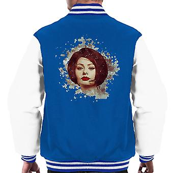 Sophia Loren At The Savoy Shooting Operation Crossbow 1964 Men's Varsity Jacket