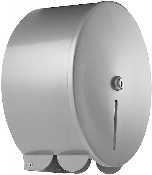 Pro Range Silver Metal Mini Jumbo 10 Toilet Roll Dispenser